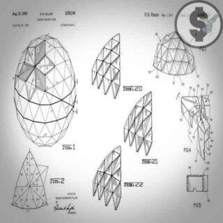 Патент 1965 года на геодезический купол